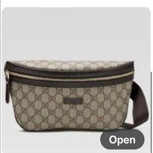 Gucci coated canvas monogram waist bag